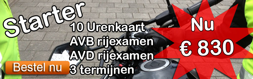Motorrijles pakket Amsterdam